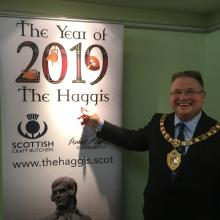 President Paul at the Year of the Haggis launch