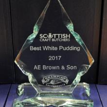 Best White Pudding 2017 - AE Brown Turriff