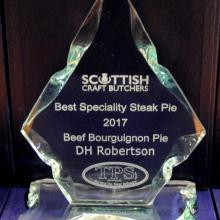 Best Speciality Steak Pie 2017 - DH Robertson Arbroath