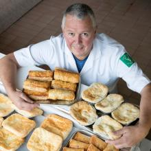 Douglas Graham of Blackwood of Kilmacolm with his award winning pies