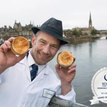Beaton Lindsay, DG Lindsay & Son, Perth winner of the Diamond Award for the best butcher's hand held steak pie in Scotland 2018