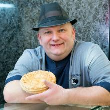 Gold award winning pies from Tom at Grierson Brothers Butchers, Castle Douglas