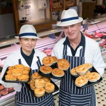 Gold award winning Bridies and Steak Pies from Kenneth Allan at HW Irvine, Blairgowrie