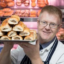 Gold award winning Sausage Rolls from McCafferty Butchers, Forth