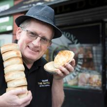 Gold award winning Scotch Pies from Donny Shaw at Shaw the Butchers, Glasgow