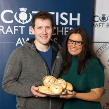Graham Lawson meets Judith Ralston as he submitted her products at the SCB Savoury Pastry Awards