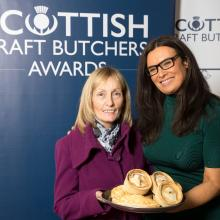 Margaret Ann McGuigan meets Judith Ralston as she submitted her products at the SCB Savoury Pastry Awards